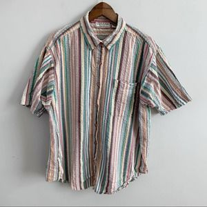 Vintage | Venezia Vitale Button Down Striped Top L